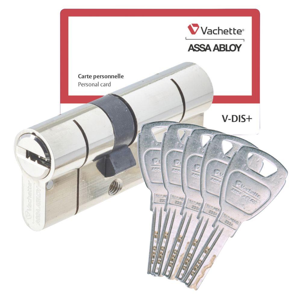 Cylindre de haute sécurité Vachette 30 x 40 mm