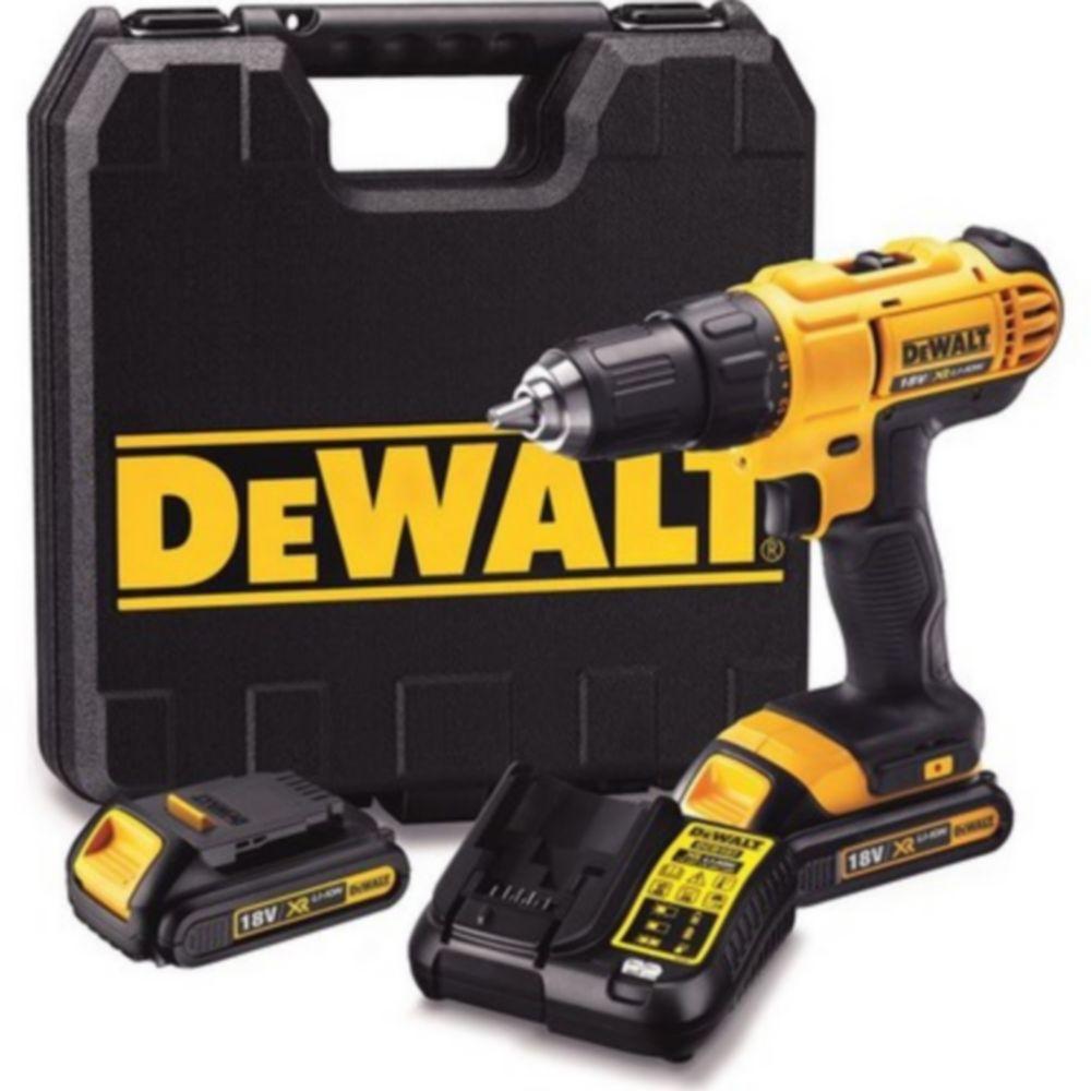 Perceuse visseuse sans fil Dewalt DCD771S2 18V-2x1,5Ah