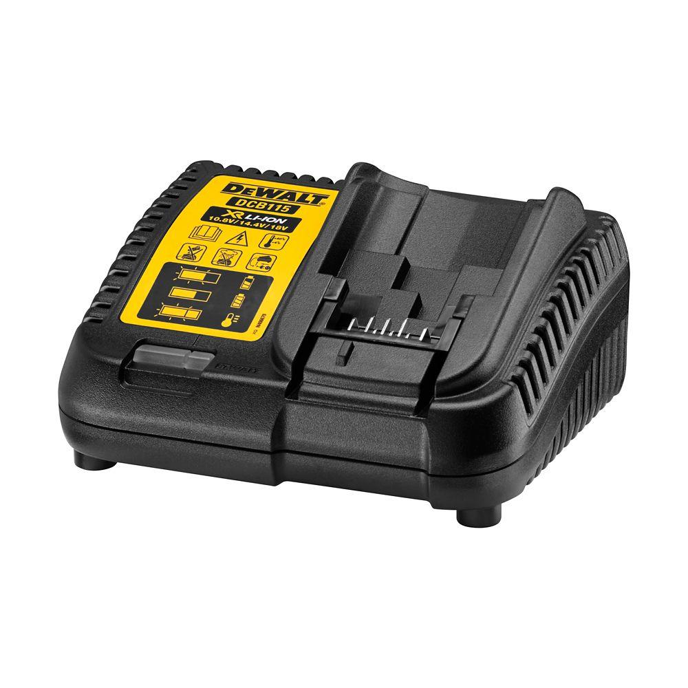 Chargeur de batterie DeWalt DCB115 18V multi voltage
