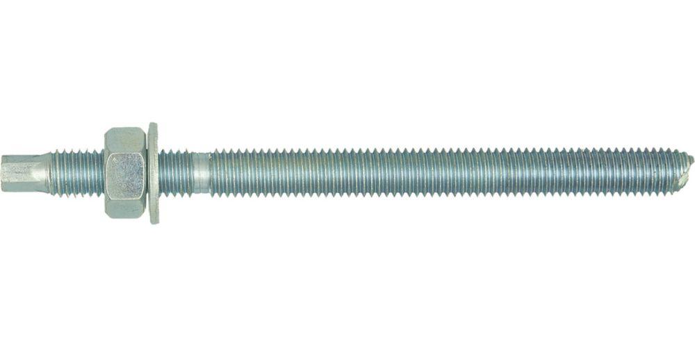 10goujons zingués brillants Rawlplug M12 x160mm