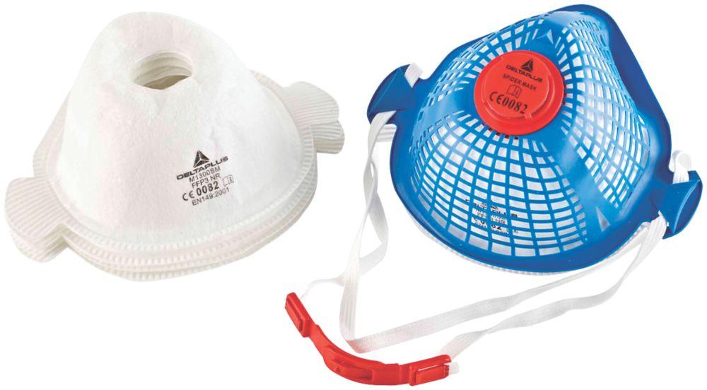 Masque antipoussière réutilisable Delta Plus Spider Mask avec 5filtres P3