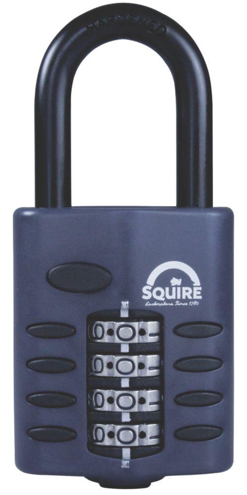 Cadenas à combinaison à anse longue en acier résistant aux intempéries Squire 50mm