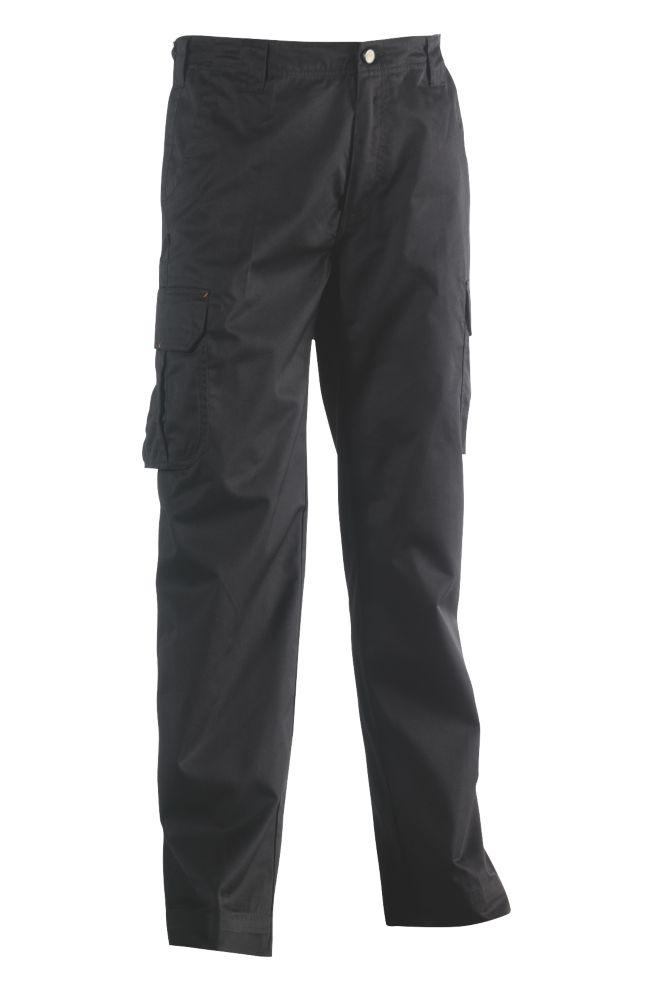 """Pantalon de travail Herock Thor noir, tour de taille 36"""" et longueur de jambe 30"""""""