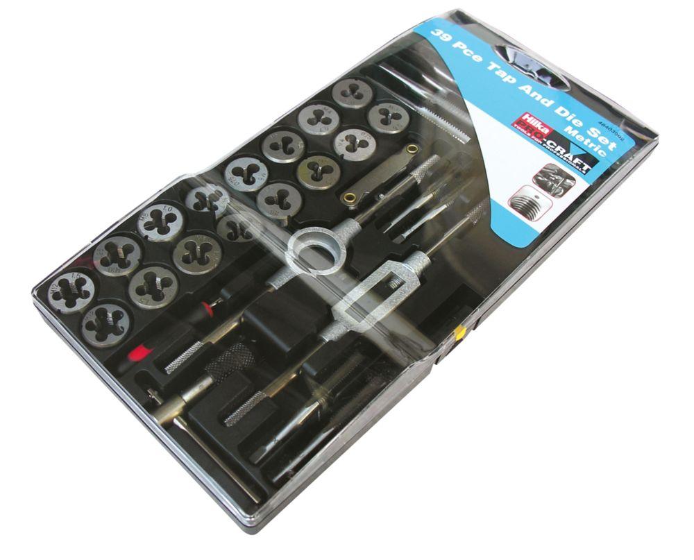 Assortiment de 39tarauds et filières métriques 3-12mm Hilka Pro-Craft