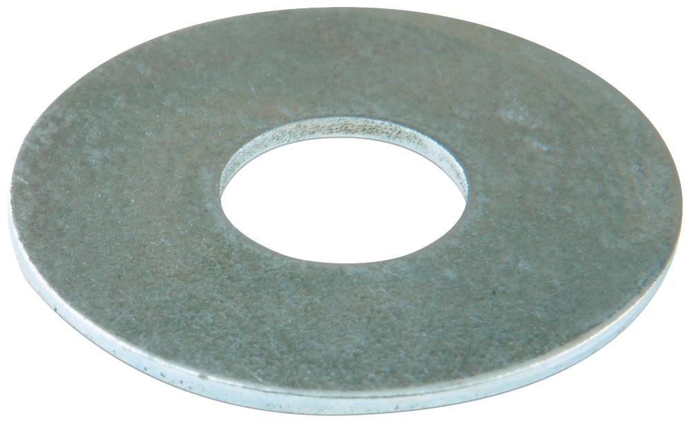 100rondelles plates larges en acier Easyfix M6 x1,6mm