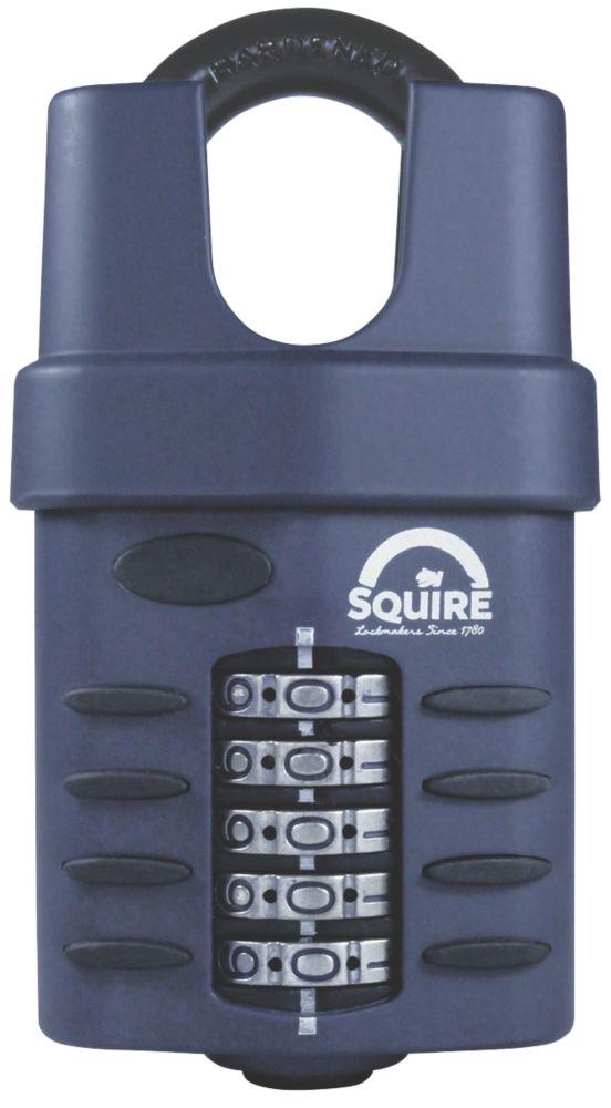 Cadenas à combinaison à anse fermée en acier résistant aux intempéries Squire 60mm