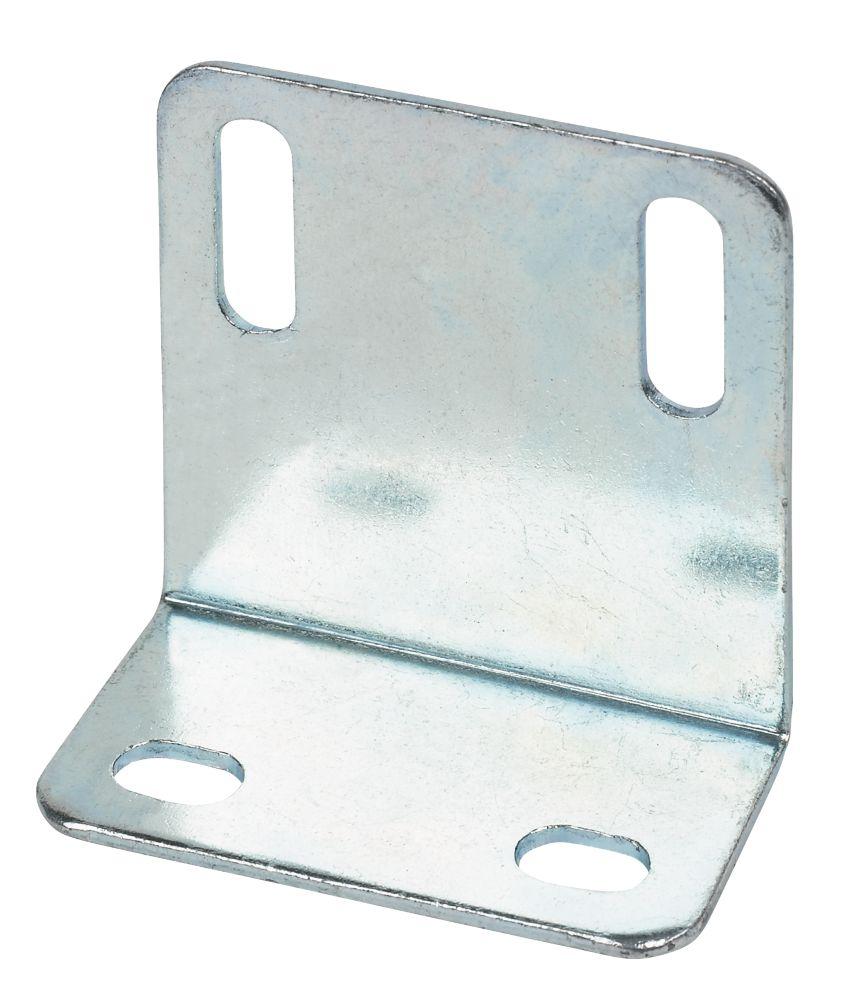 10grandes équerres de réglage zinguées 48 x25 x1,6mm