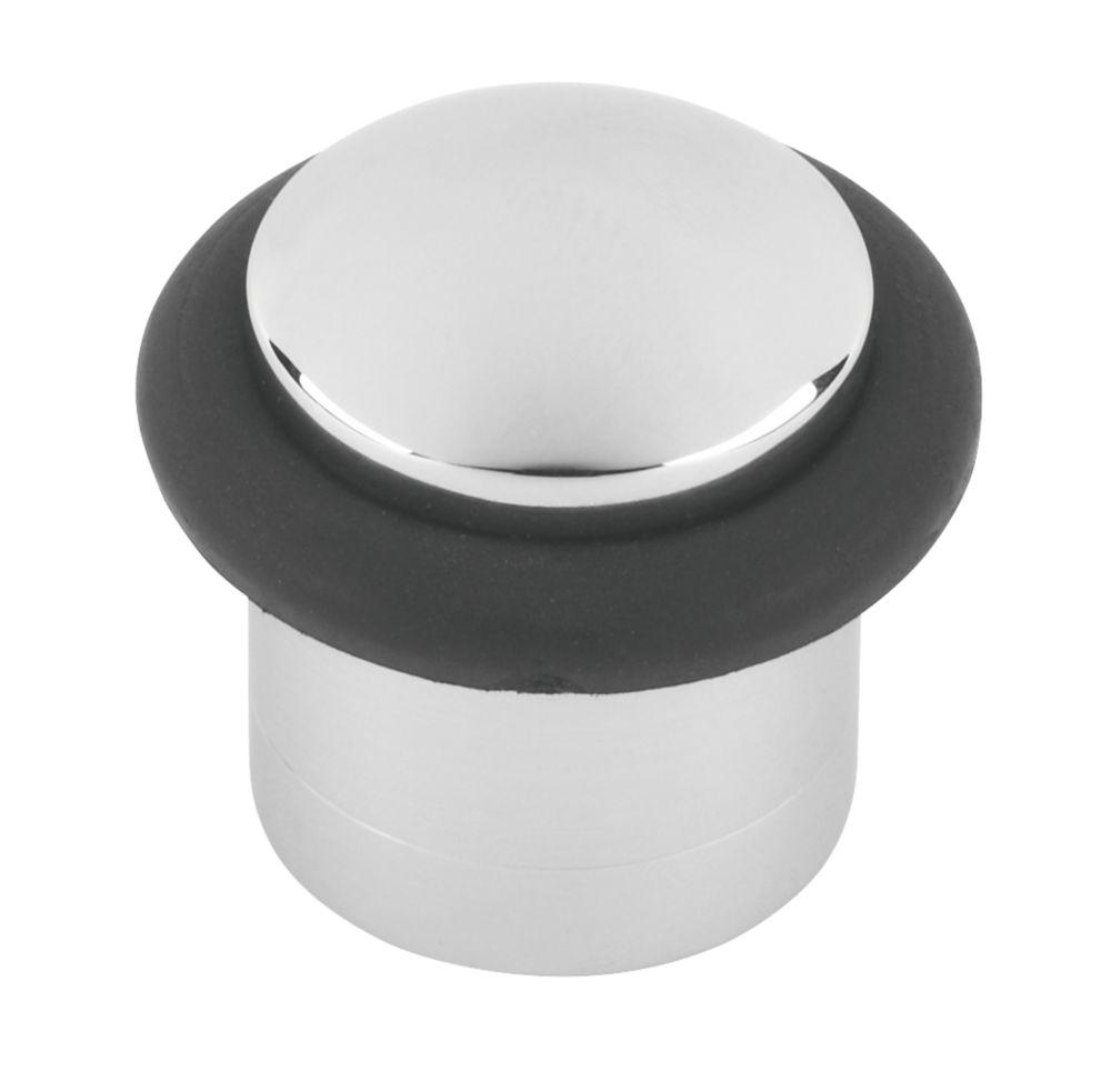 Butée de porte cylindrique chrome poli