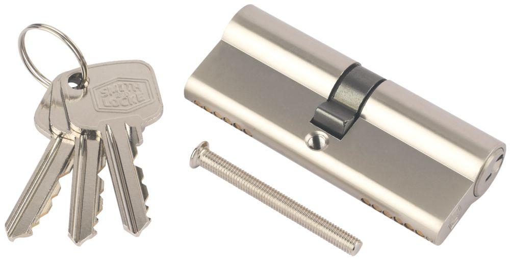 Cylindre européen à 6points Smith & Locke 40-50 (90mm) en nickel