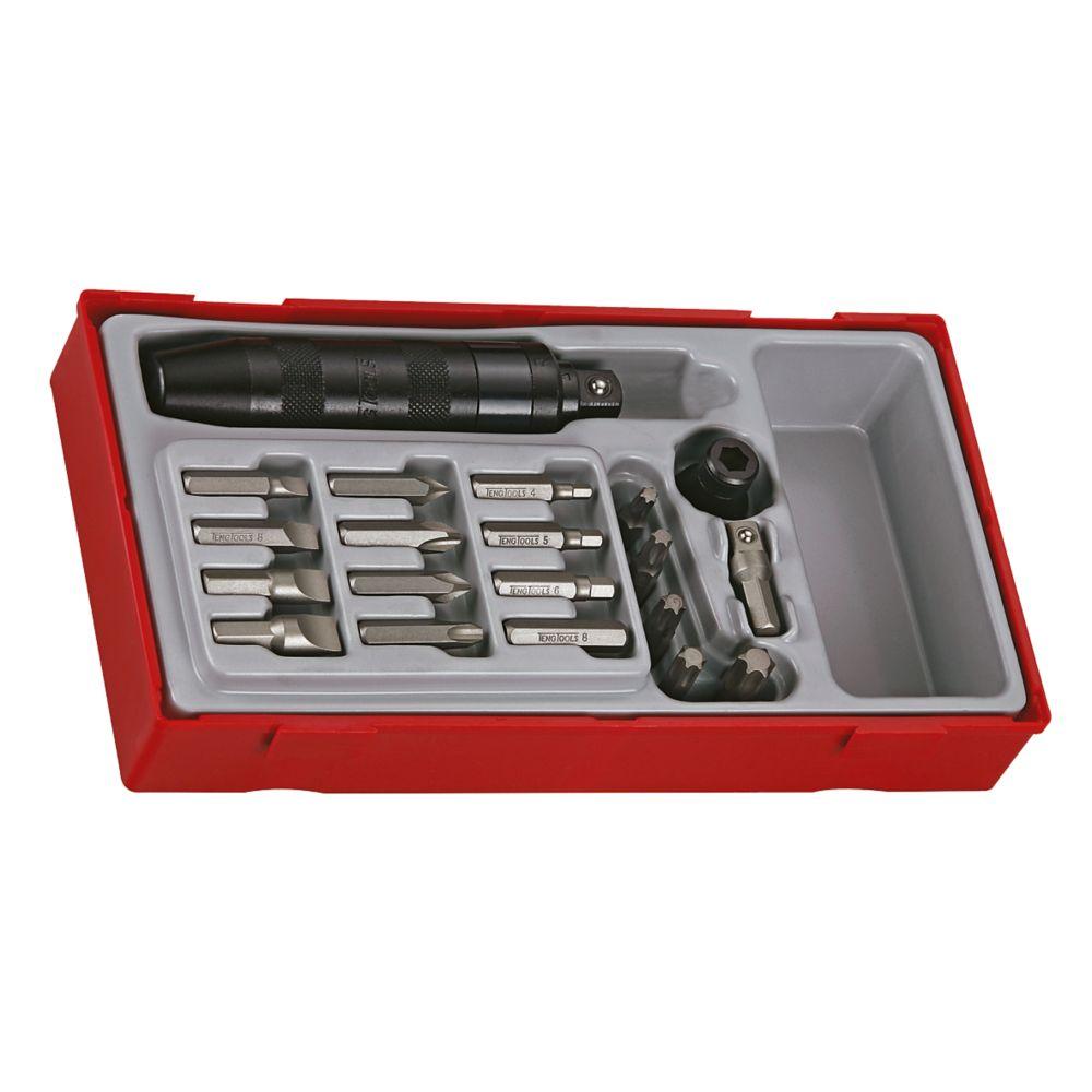 """Kit de visseuse à choc ½"""" interchangeable TTID20 Teng Tools 20pièces"""