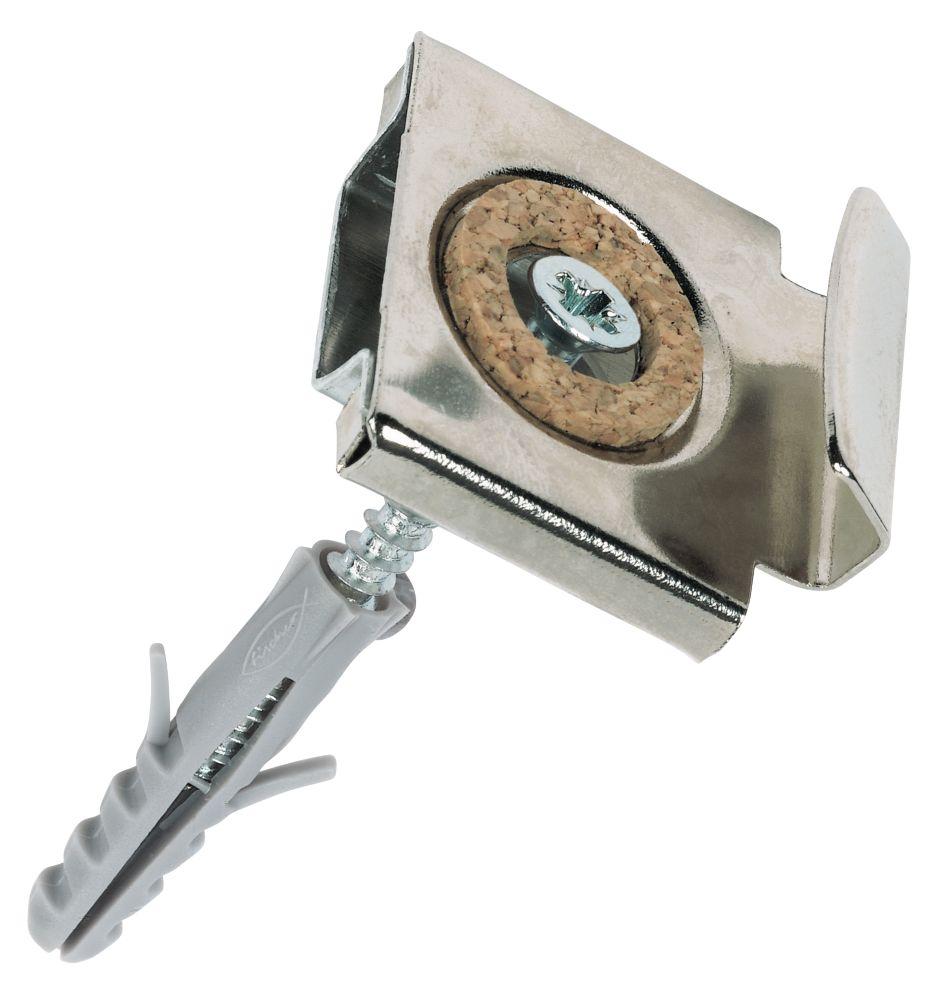 Kit de fixation invisible pour miroir Fischer 6mmx