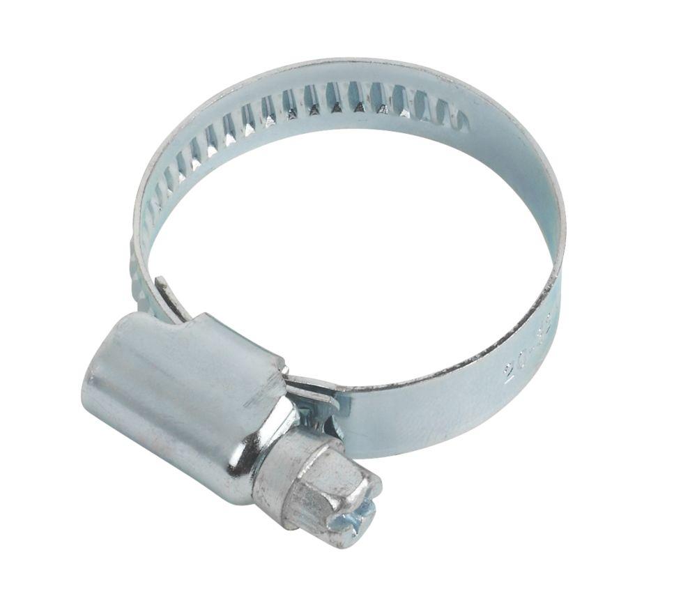 10colliers de serrage zingués bleus Easyfix 20-32mm