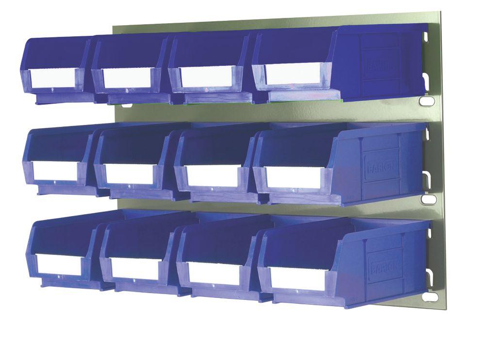 Kit de rangement à fixation murale 2- 12bacs TC2