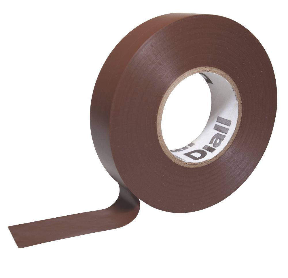 Ruban isolant510 Diall marron 33m x19mm