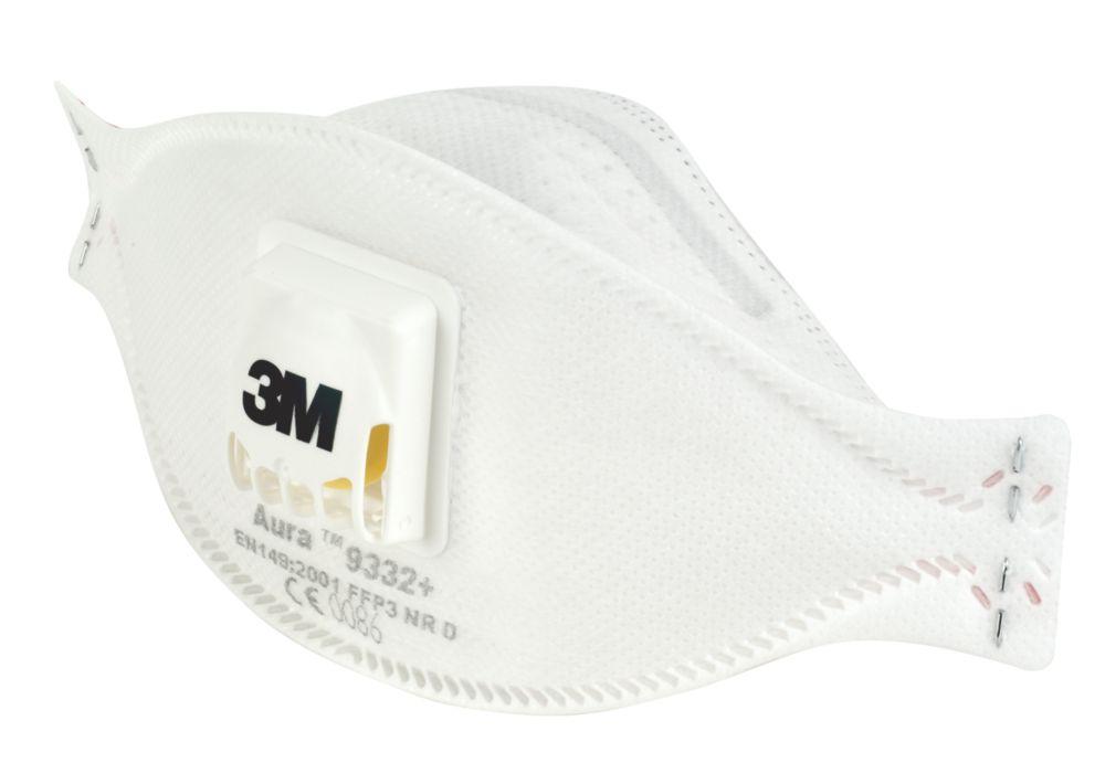 Appareil de protection respiratoire contre les poussières/brouillards/vapeurs à soupape jetable 3M9332+ P3