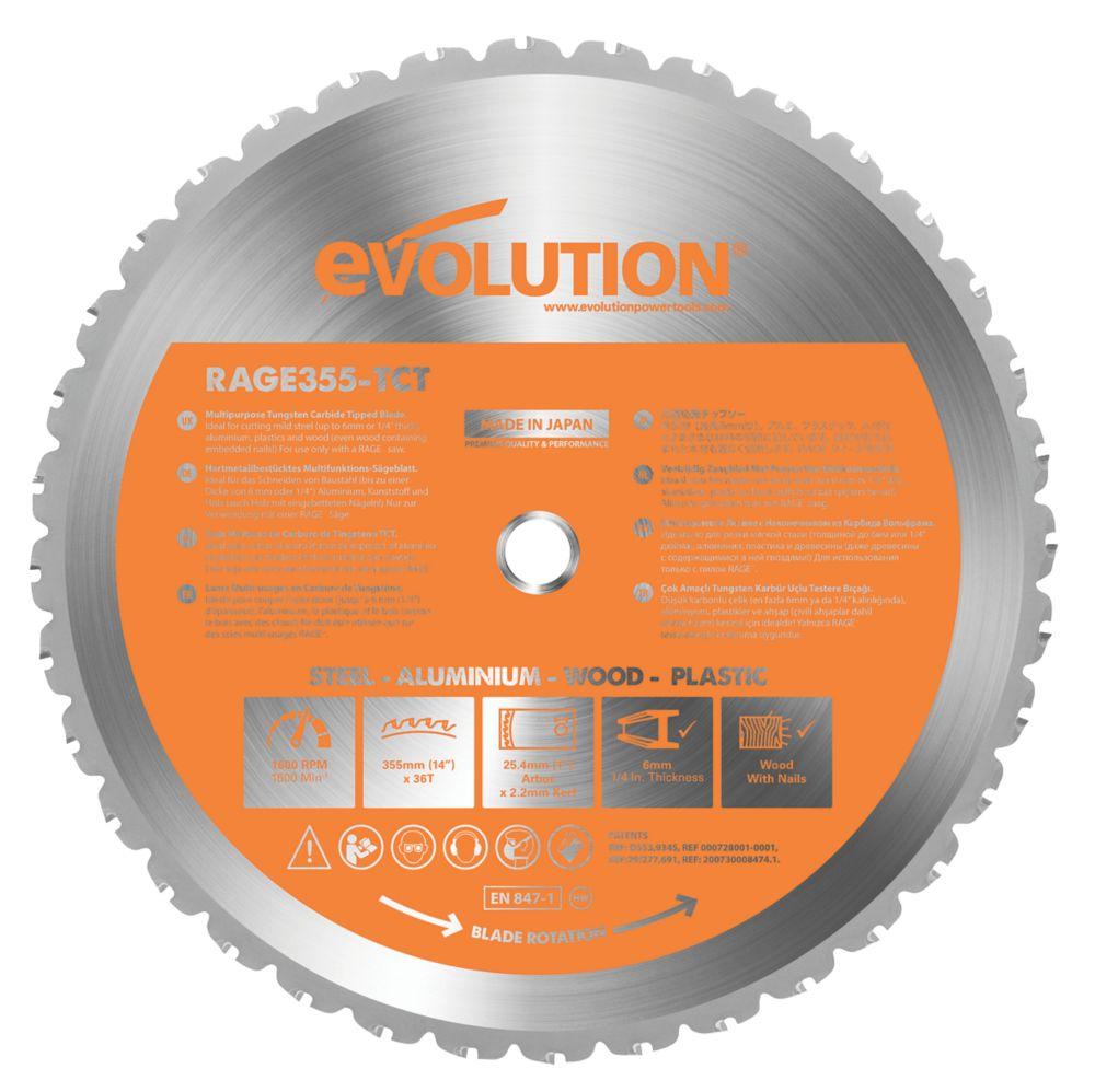 Lame de scie multi-usage 36dents Evolution 355 x 25,4mm