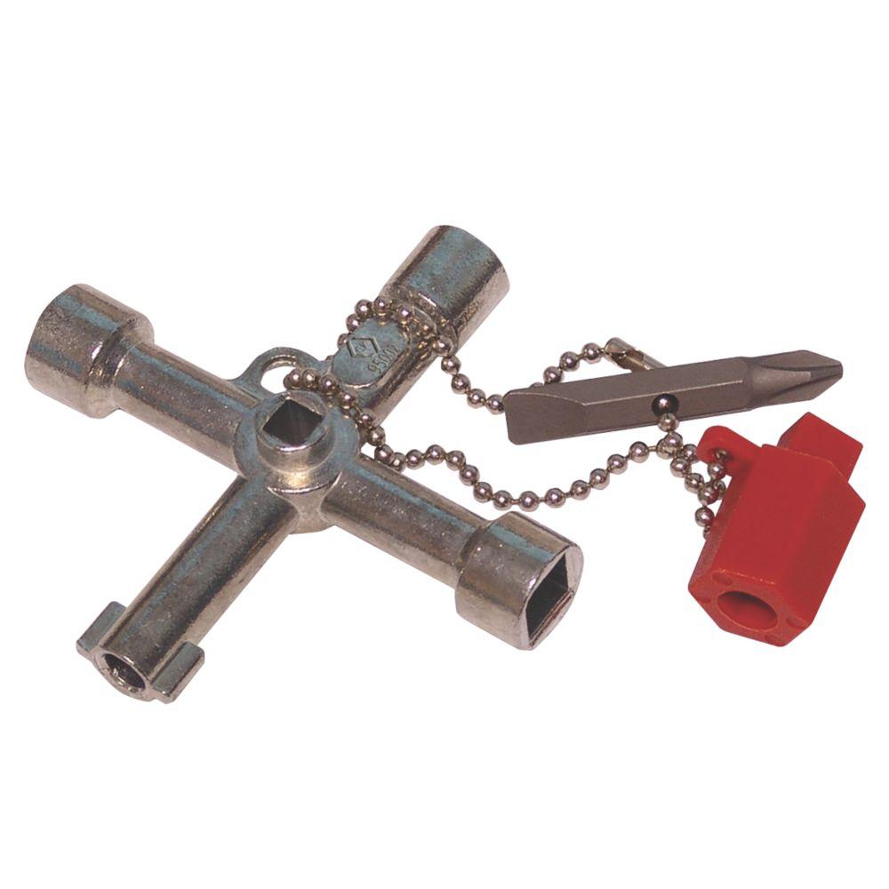 Clé utilitaire en croix à 3profils C.K