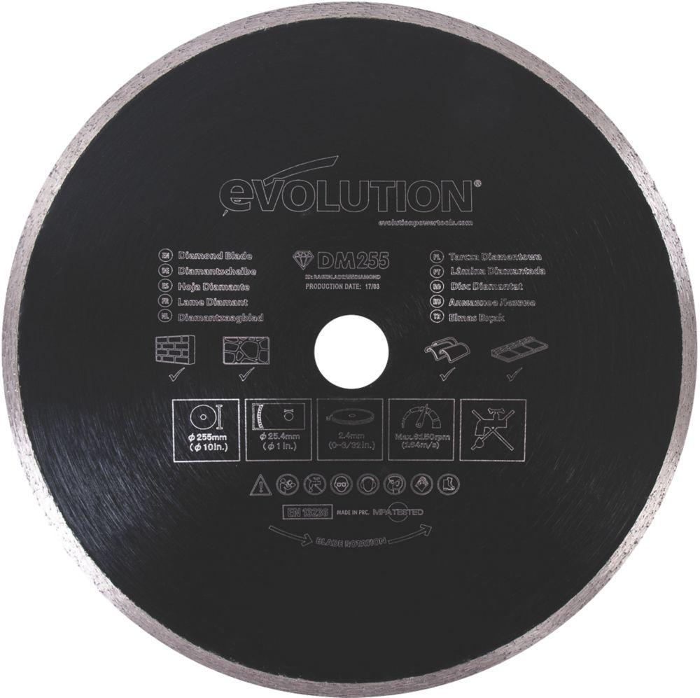 Disque diamant pour maçonnerie/pierre Evolution 255 x 25,4mm