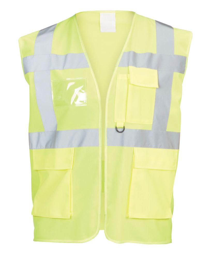 """Gilet haute visibilité à poches multiples jaune tailleL / XL, tour de poitrine 50¼"""""""