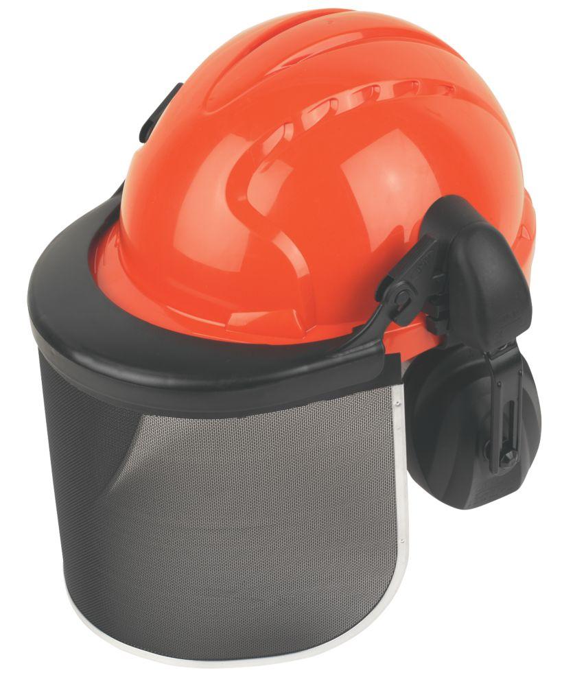 Casque forestier JSP EVO3 avec casque antibruit et visière