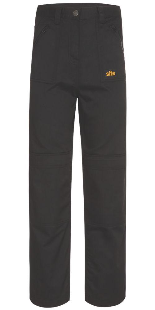 """Pantalon pour femme Site Beagle noir taille12, longueur de jambe 32"""""""