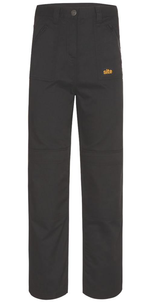 """Pantalon pour femme Site Beagle noir taille10, longueur de jambe 32"""""""