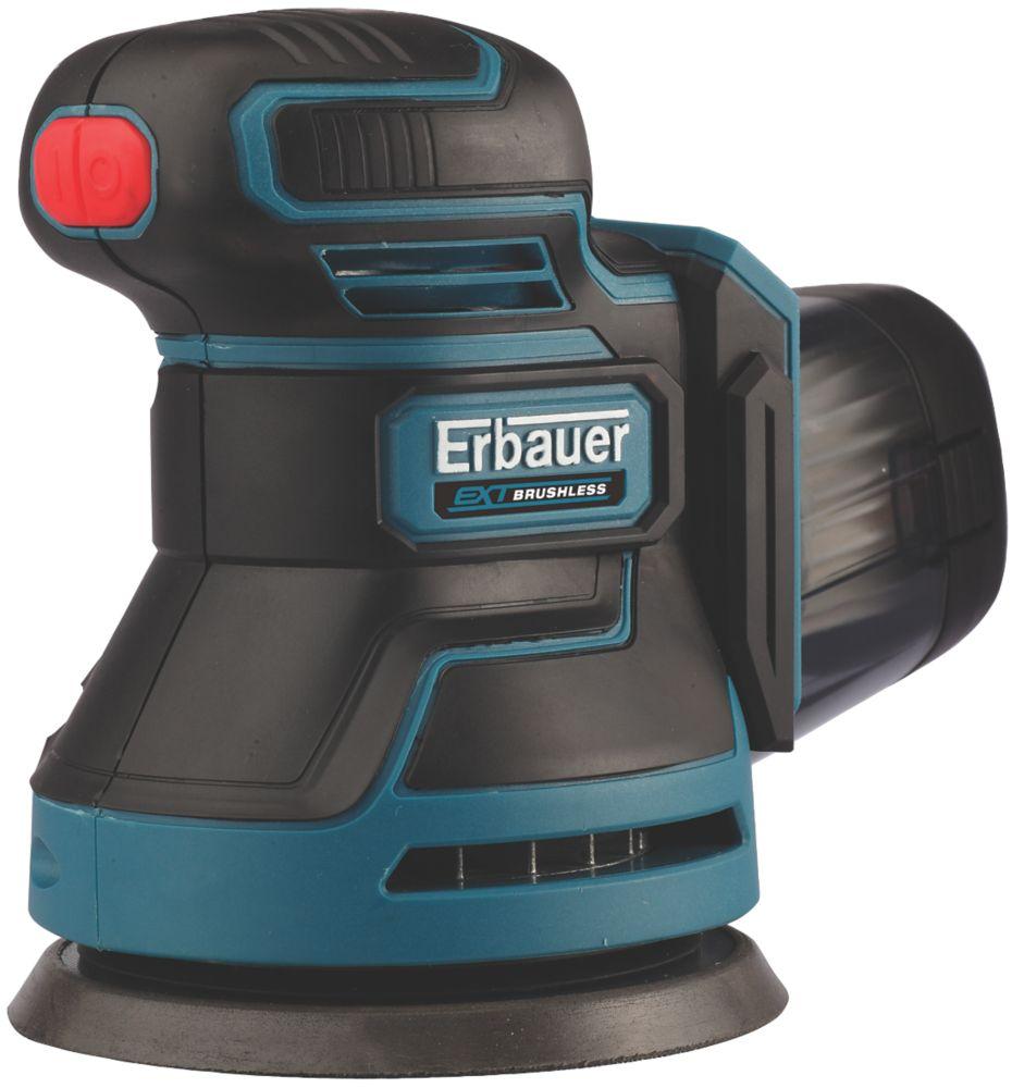 Ponceuse excentrique sans fil sans charbon Erbauer ERO18-Li 125mm 18V Li-ion EXT - Sans batterie
