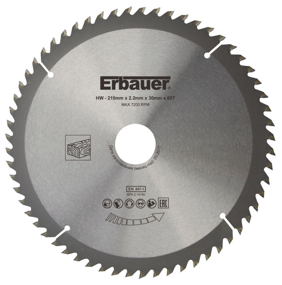 Lame de scie circulaire 60dents Erbauer 210 x 30mm