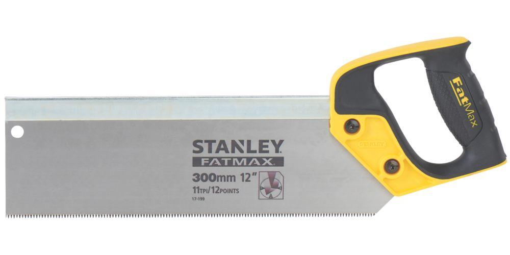"""Scie à dos pour le bois 11dpp Stanley 12"""" (300mm)"""