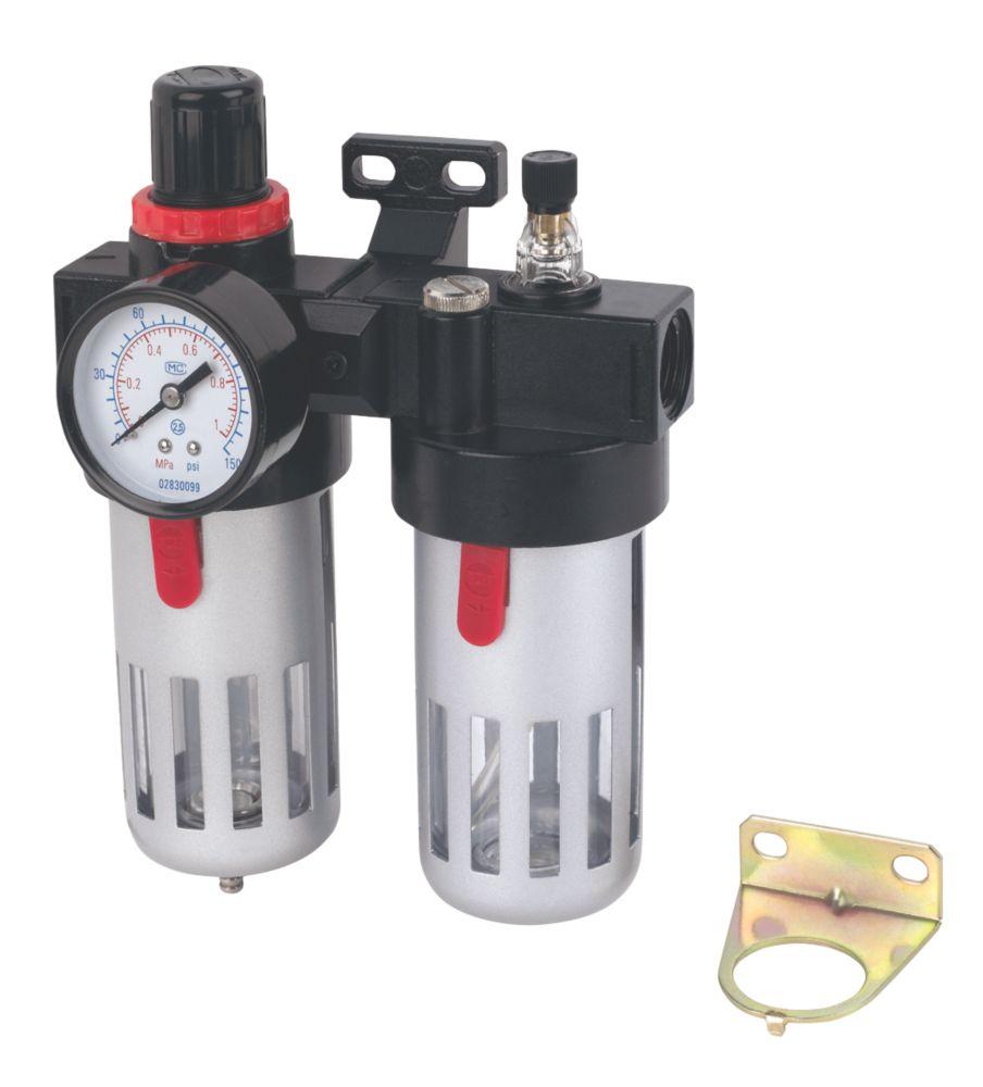 """Filtre, détendeur et lubrificateur pour outil pneumatique BSP 1/2"""""""
