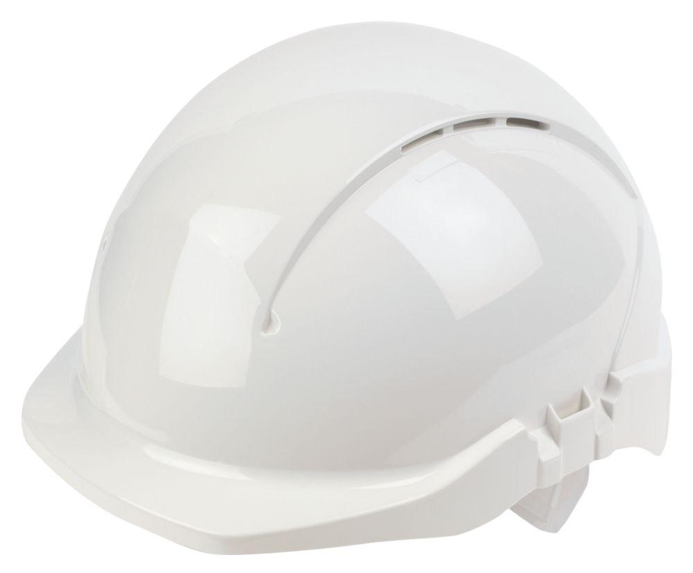 Casque de sécurité ventilé à visière raccourcie Centurion Concept blanc
