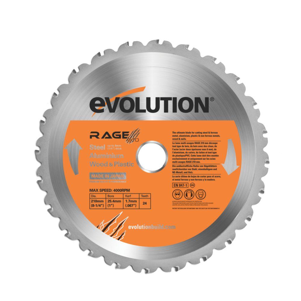 Lame de scie circulaire 24dents Evolution 210 x 25,4mm
