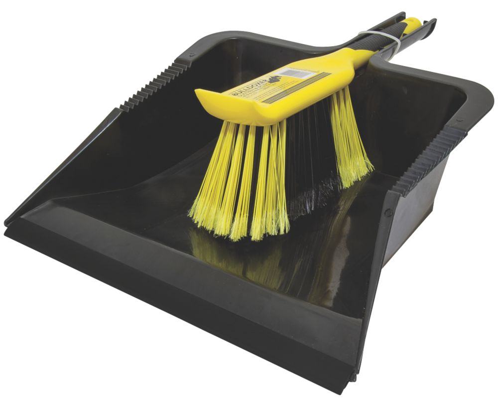 Pelle et balayette à usage intensif Bentley Bulldozer noir /jaune