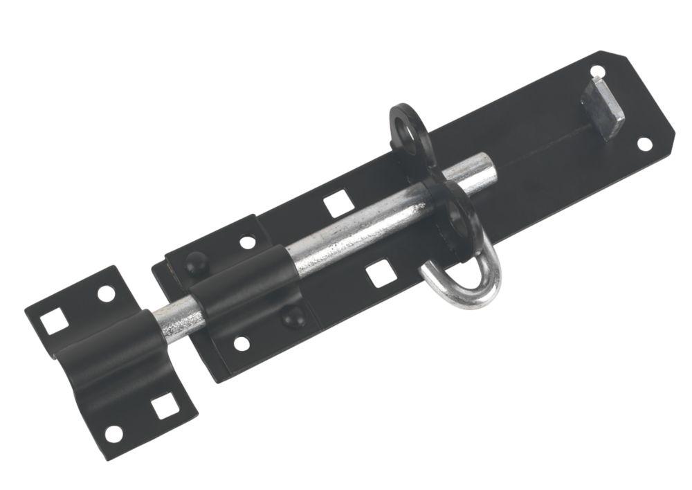 Verrou coulissant pour portail noir 179mm