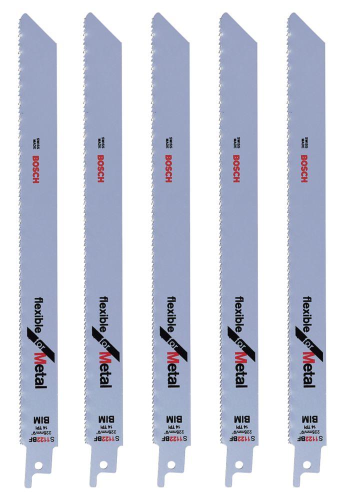 Lot de 5lames de scie égoïne Bosch S1122BF 225mm