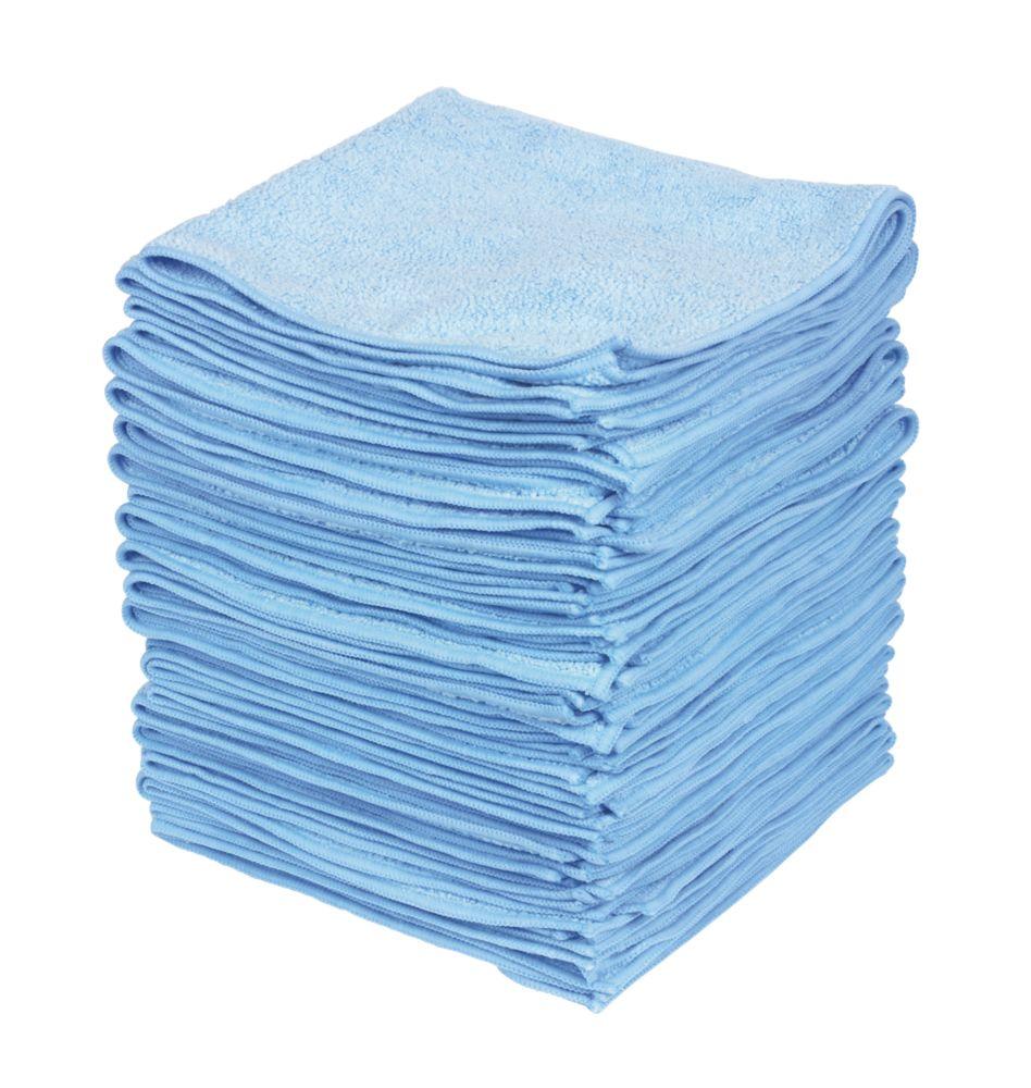 50chiffons microfibres bleus 380x 380mm