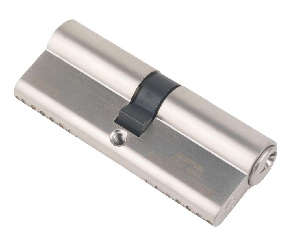 Serrure à double cylindre européen à 6points Smith & Locke 1* 40-40 (80mm), nickel poli
