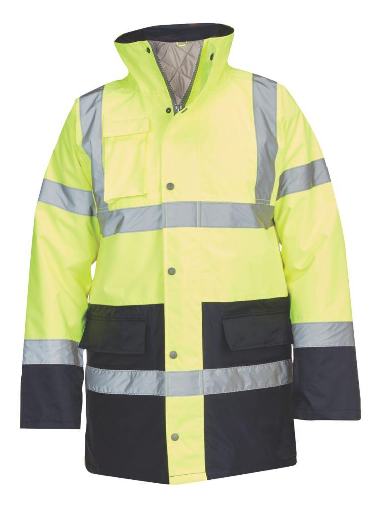 """Veste de circulation haute visibilité jaune / bleu tailleXL, tour de poitrine 58"""""""