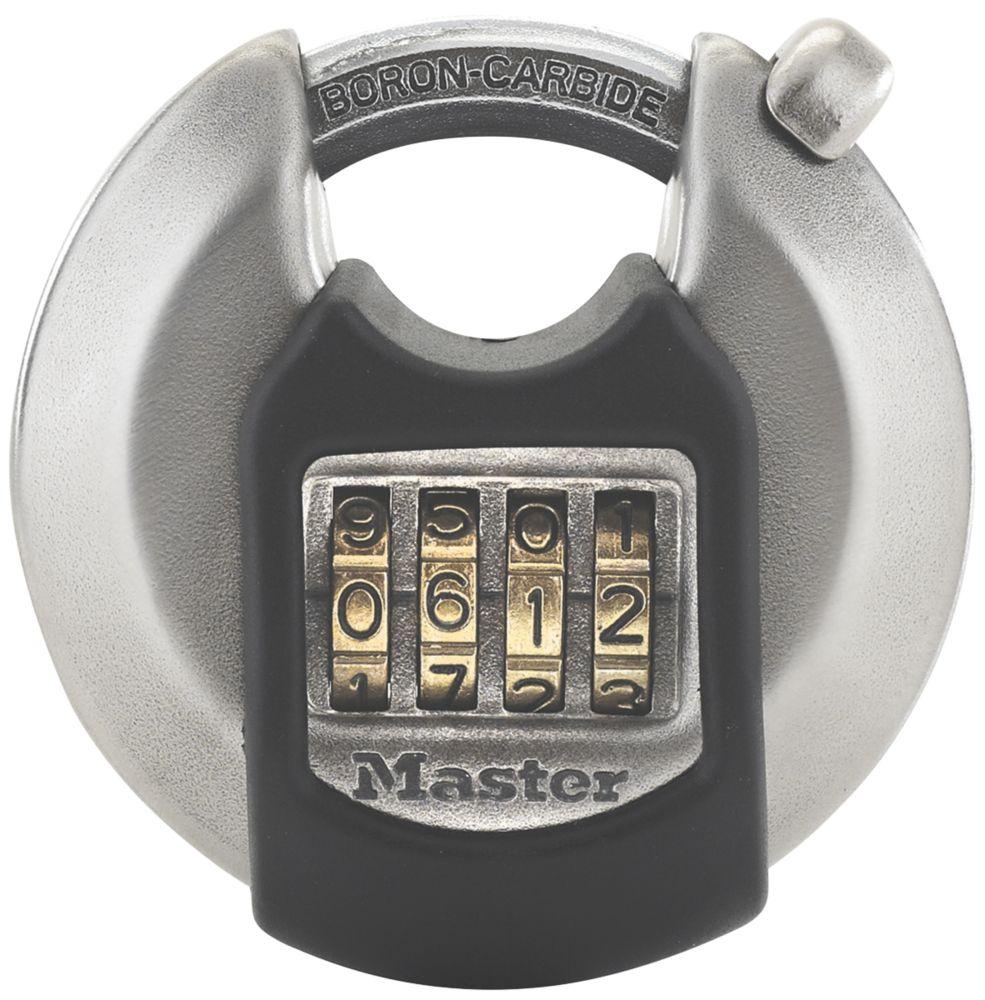 Cadenas disque à combinaison en acier inoxydable résistant aux intempéries Master Lock Excell 70mm