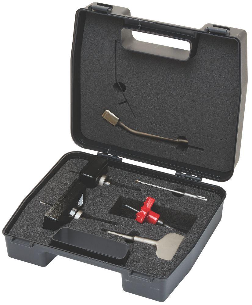 Kit d'installation de boîtier et de rainurage Armeg EBS, 7pièces