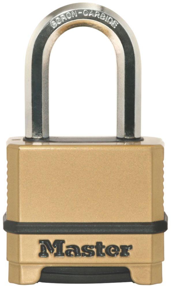 Cadenas à combinaison en zinc coulé résistant aux intempéries Master Lock Excell 56mm