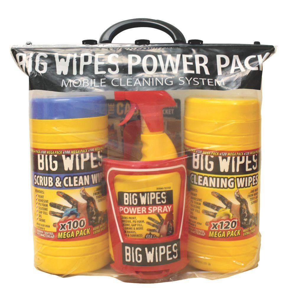 Kit de nettoyage tout-en-un Big Wipes Power Pack 4pièces