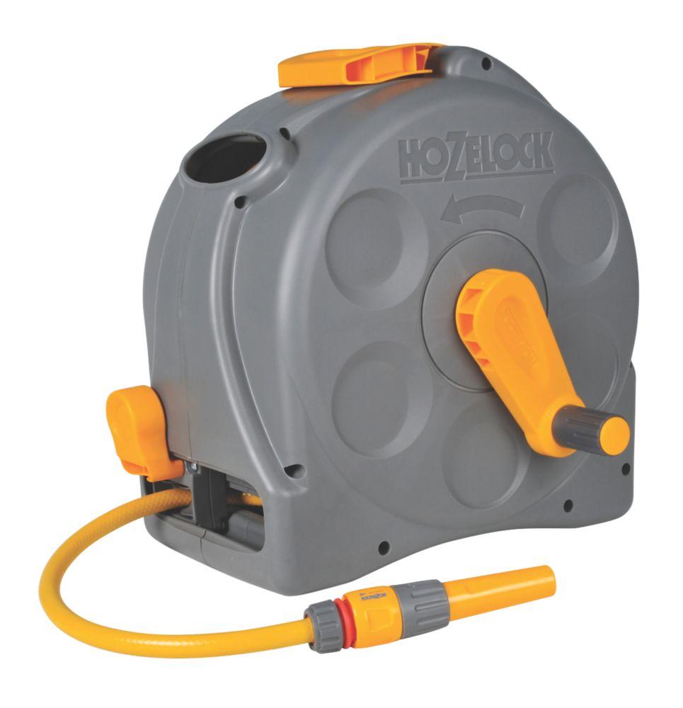 Enrouleur compact 2-en-1 Hozelock avec tuyau de 25m