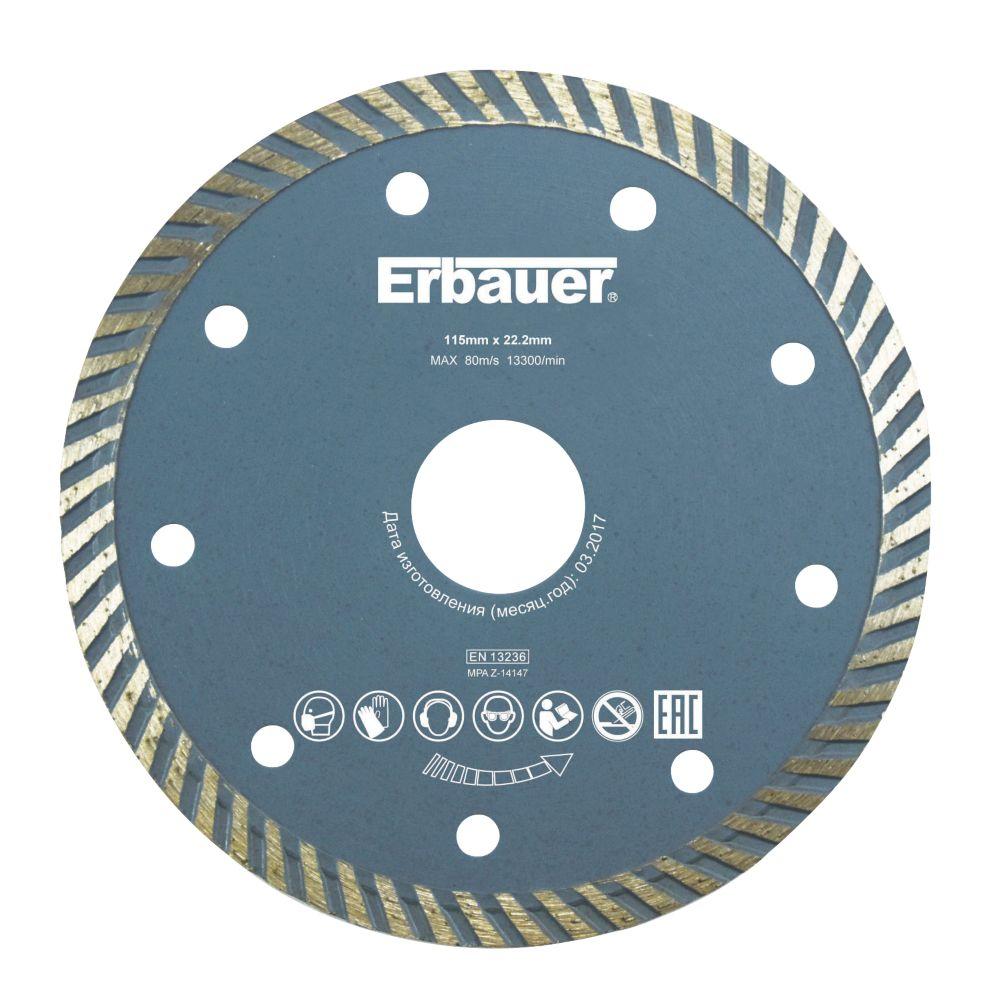 Disque diamant Turbo pour maçonnerie/carrelage Erbauer 115 x 22,2mm