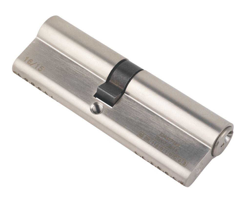 Serrure à double cylindre européen à 6points Smith & Locke 1* 45-50 (95mm), nickel poli