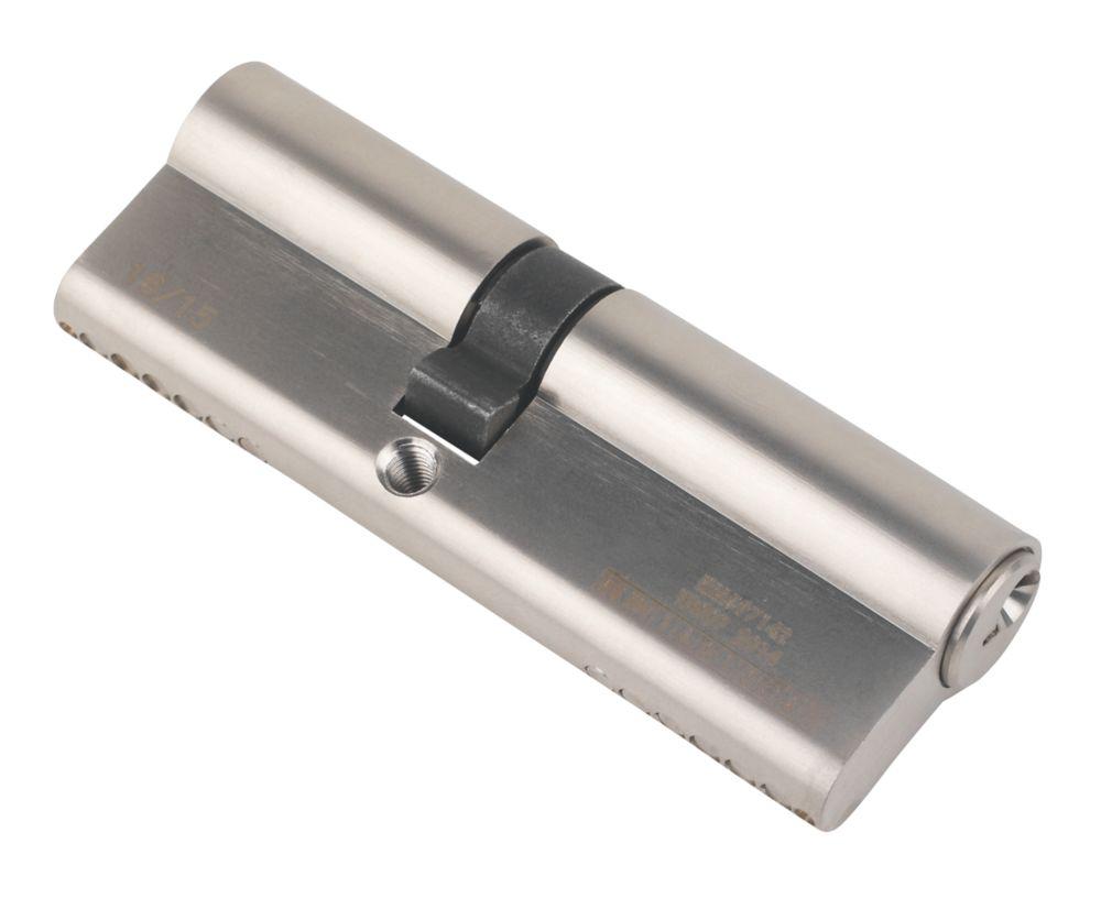 Serrure à double cylindre européen à 6points Smith & Locke 1* 40-50 (90mm), nickel poli