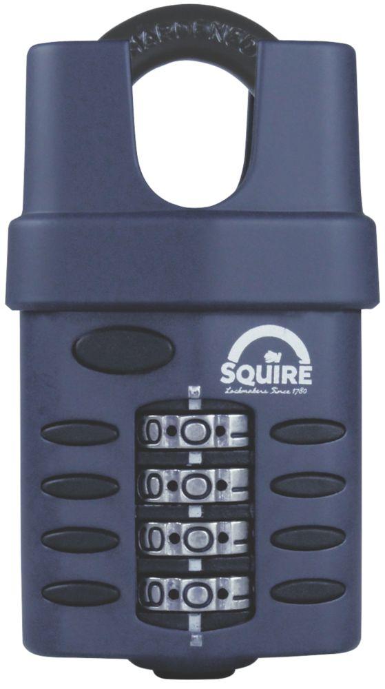 Cadenas à combinaison à anse fermée en acier résistant aux intempéries Squire 50mm