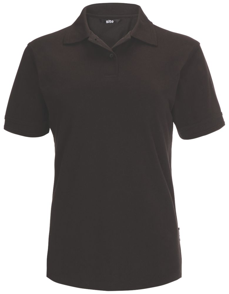 Polo pour femme Site Tanneron noir, taille16-18