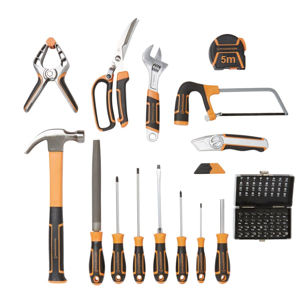 Sac à outils Magnusson + 60 outils