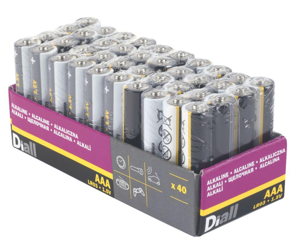 Lot de 40piles alcalines AAA Diall